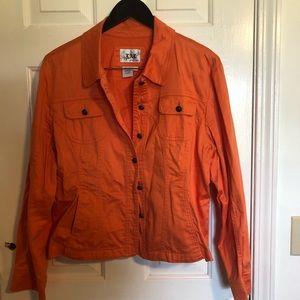 Live a Little orange blazer